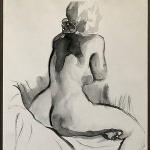 Prints of original watercolor painting of woman